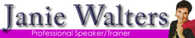 Janie Walters, professional speaker and speech communications trainer